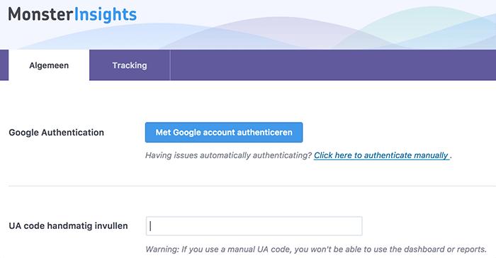 Google Analytics met insights instellen