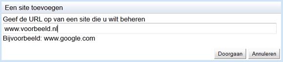 Website toevoegen aan Google Webmasterstools