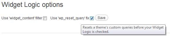 Widget Logic opties