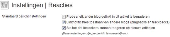 WordPress reacties uitschakelen op de hele website