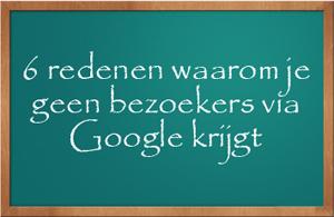 bezoekers via Google