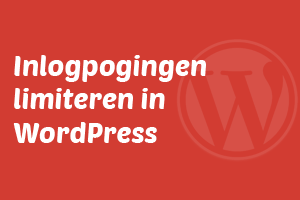 Inlogpogingen limiteren in WordPress