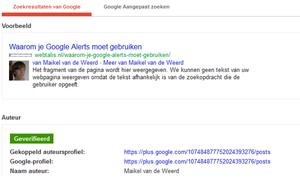 Google auteursfoto in zoekresultaten