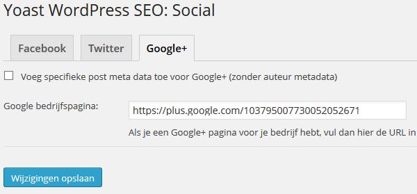 Google+ bedrijfspagina WordPress