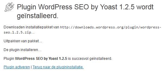 WordPress plugin activeren