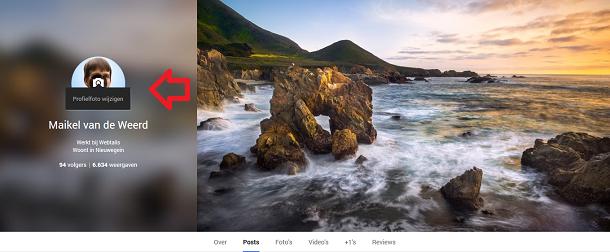 Google+ profielfoto wijzigen