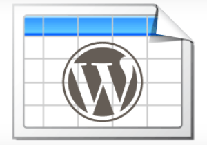 WordPress tabel