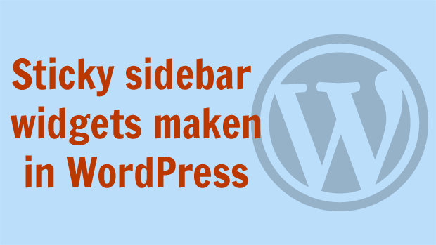 Sticky sidebar widgets maken in WordPress