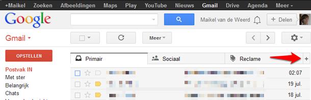 Gmail plusteken