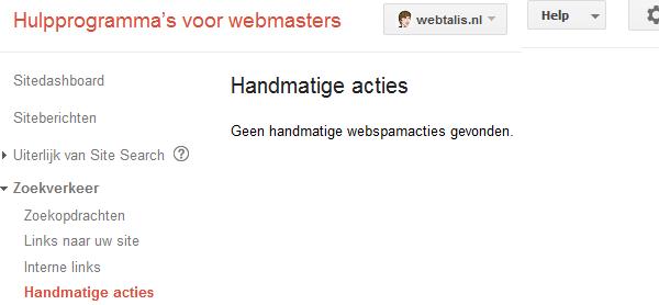 Google handmatige acties