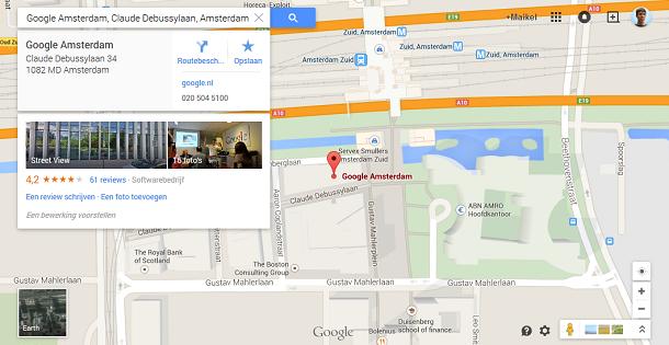 Google Nederland op Google maps