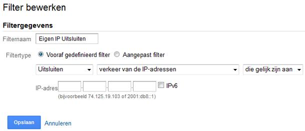 IP-adres uitsluiten in Google Analytics