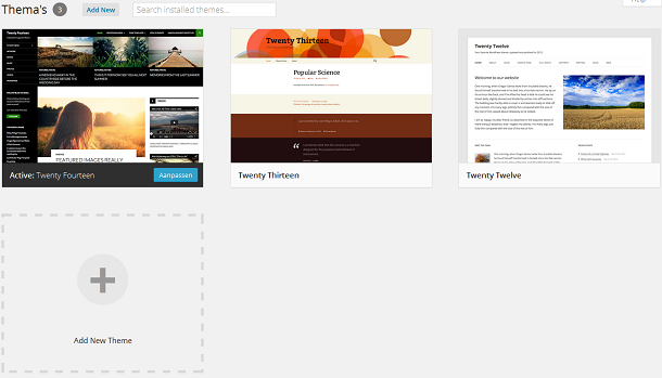 Thema's beheren in WordPress 3.8