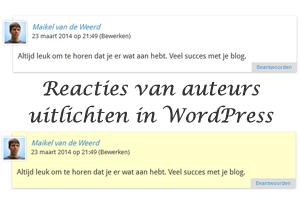 Reacties van auteurs uitlichten in WordPress