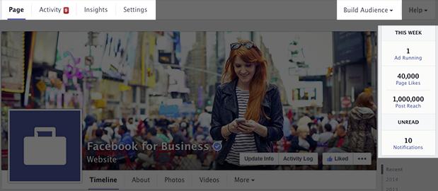 Facebook admin tools