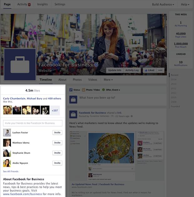 Facebook-pagina Linkerkolom