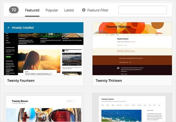 Theme browser