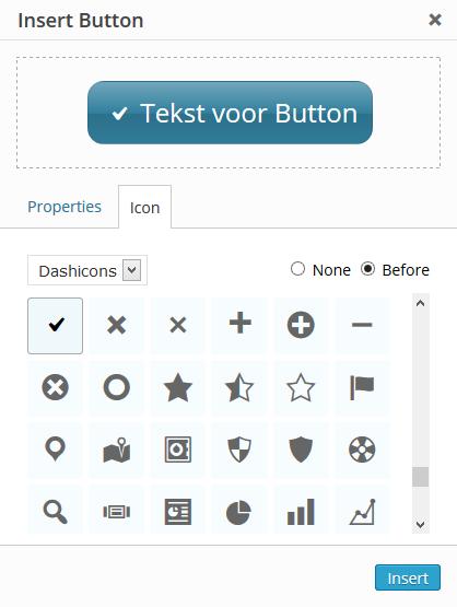 Iconen button maken