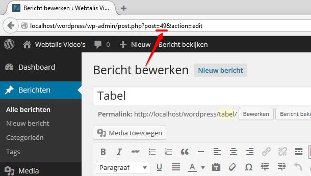 Bericht ID in WordPress