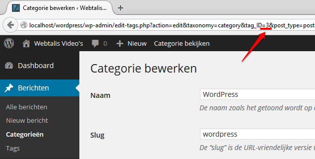 Categorie ID in WordPress
