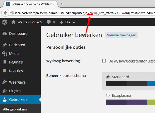 Gebruiker ID in WordPress