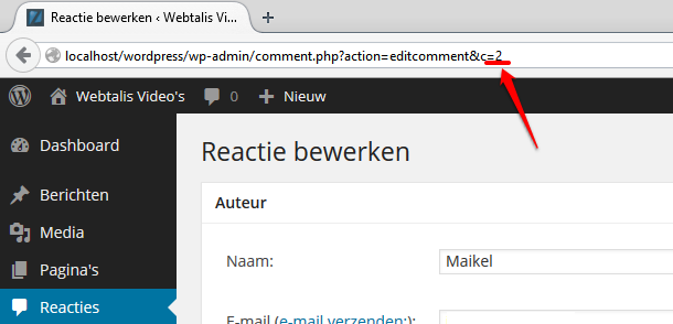 Reactie ID in WordPress