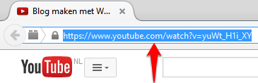 YouTube video URL