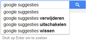 Google Suggesties