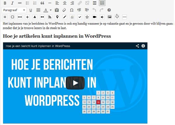 Embed in WordPress