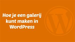 WordPress galerij maken