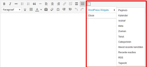 Shortcode WordPress widgets