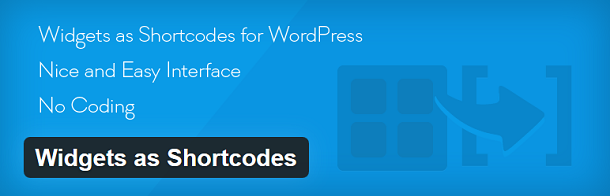 Widgets as Shortcodes
