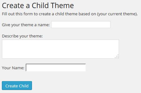 WordPress child theme maken met plugin
