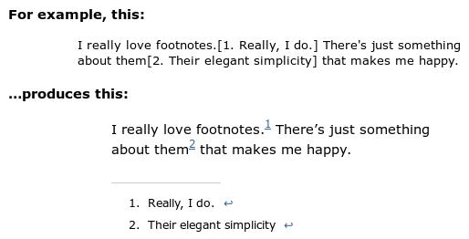 FD Footnotes