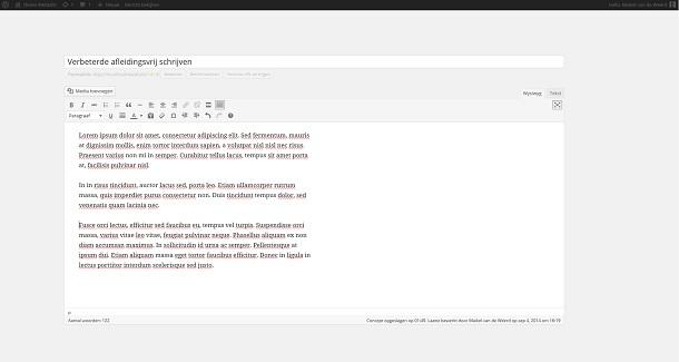 Afleidingsvrij schrijven in WordPress