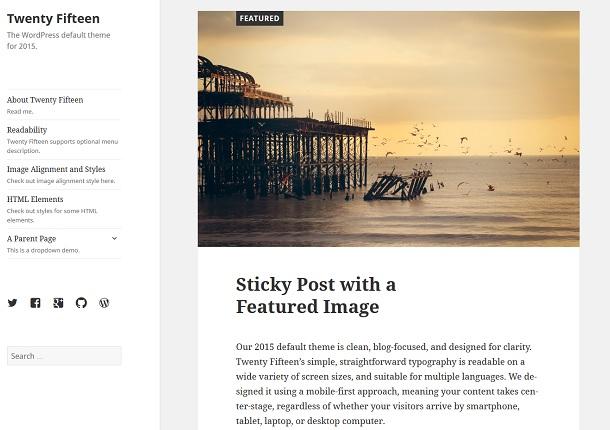 WordPress thema Twenty Fifteen