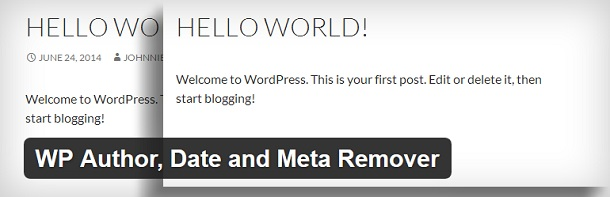 WP Author, Date and Meta Remover
