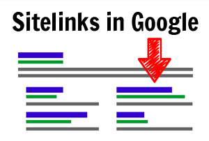 Sitelinks in Google