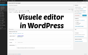 Visuele editor in WordPress