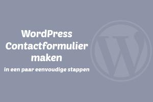 WordPress contactformulier maken