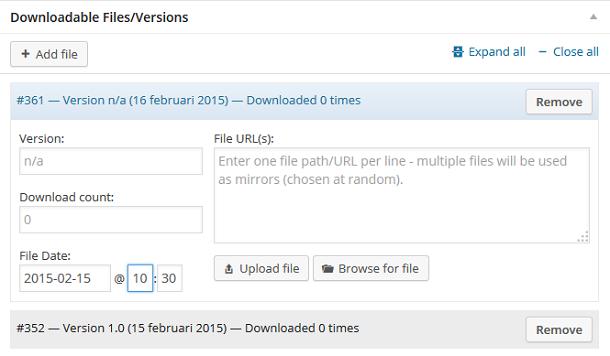 Download Monitor bestand toevoegen