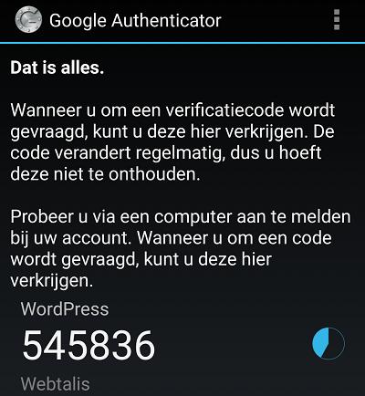 Google Authenticator code