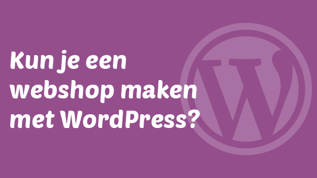 Kun je een webshop maken met WordPress