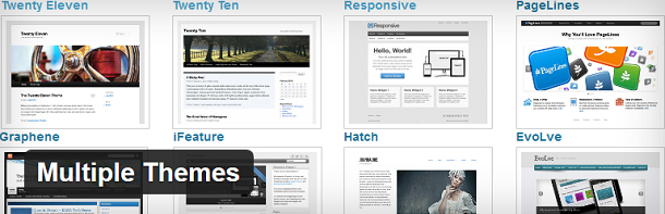 Multiple Themes plugin voor WordPress