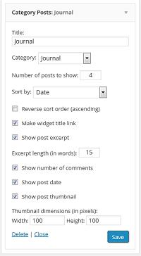 Category Posts Widget mogelijkheden