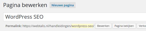 Slug in WordPress permalink