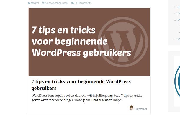 Content card in een WordPress bericht