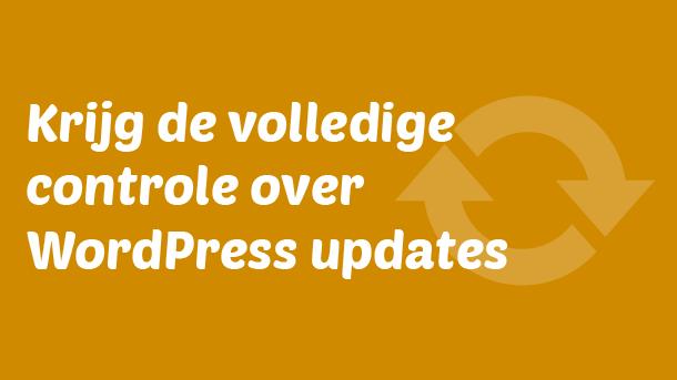 Controle over WordPress updates