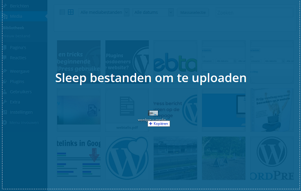 WordPress mediabestand uploaden