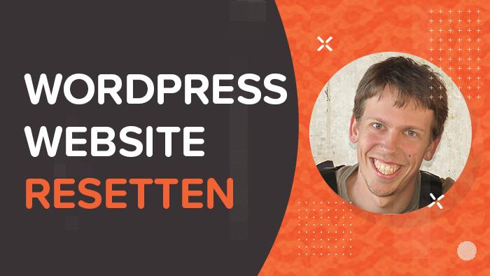 WordPress website resetten